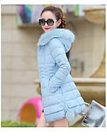 Жіноча зимова куртка із знімним хутром. Модель 6393., фото 4