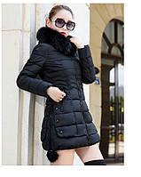 Жіноча зимова куртка із знімним хутром. Модель 6393., фото 5