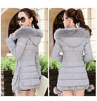 Жіноча зимова куртка із знімним хутром. Модель 6393., фото 2