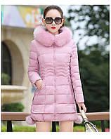 Жіноча зимова куртка із знімним хутром. Модель 6393., фото 6