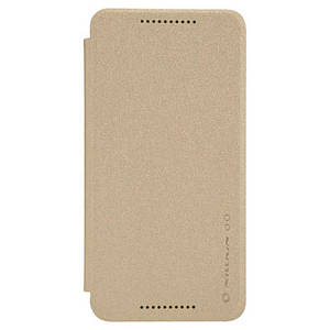 Чехол книжка для LG Nexus 5X H791 боковой с окошком, Nillkin Sparkle Series Золотистый