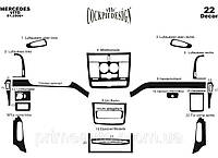 Интерьер салона, красное дерево, комплект 22 детали. (Meric) - Vito/Viano - Mercedes - 2003