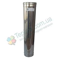 Труба ø100 мм 0,5 мм 1 м AISI 304 Версия-Люкс для дымохода дымоходная из нержавеющей стали нержавейки, фото 3