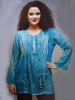 Блуза-туника разных цветов от маленького размера до больших