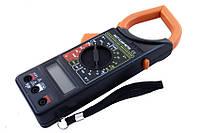 Клещи токовые 266ft, мультиметр цифровой, тестер-клещи, ручное переключение пределов, щупы, термопара, чехол, фото 1