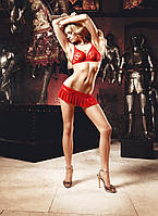 Эротический комплект бюстгальтер и юбочка Mesh Bra and Skirt Set от BACI Lingerie