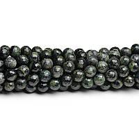 Яшма Болотная  Грань, Натуральный камень, На нитях, бусины 8 мм, Шар, кол-во: 47-48 шт/нить
