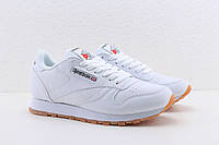 Кросівки Reebok білі жіночі підліткові Рібок Classic Leather Gum, фото 1