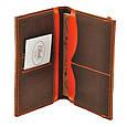 Обложка для паспорта 2.0 Орех-апельсин (кожа) + блокнотик, фото 5