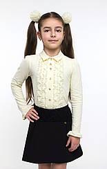 Блуза для девочки длинный рукав арт. 114519 152, Белый