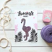 Открытка для рукодельницы «Фламинго»