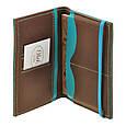 Обложка для паспорта 2.0 Орех-тиффани (кожа) + блокнотик, фото 5