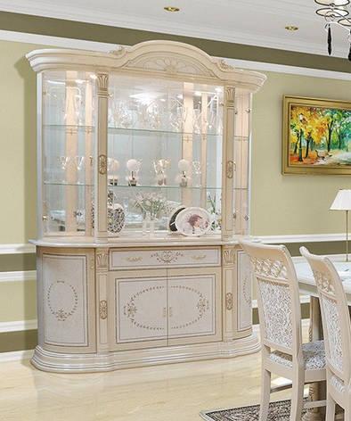 Витрина (сервант)  для гостиной в классическом стиле  4Д  Вивальди, Світ меблів, фото 2