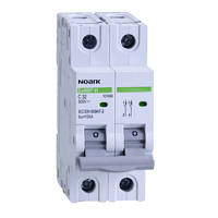 Модульный автоматический выключатель для DC 10 kA, характеристика C, 25 A, 500 V DC, 2 полюсы