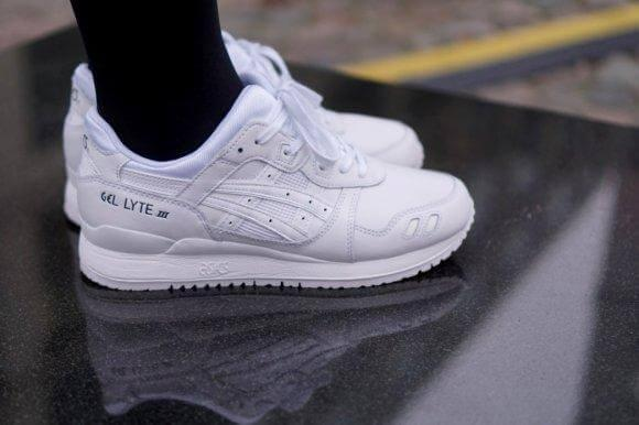 Asics Gel Lyte III Leather All White
