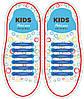 СИЛИКОНОВЫЕ ШНУРКИ для детской обуви Antilaces Kids Синий (KBI38)