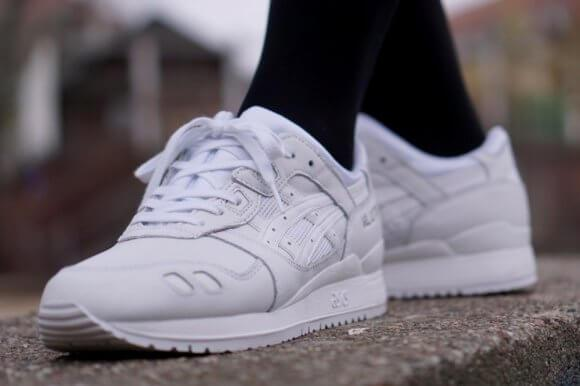 Asics Gel Lyte III Leather All White