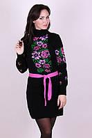 Яркое платье Рябина  черный - розовый