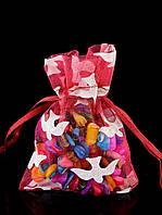 043565 Мешочек Органза 100х75хмм.  подарочные мешочки на Новый Год, Рождество