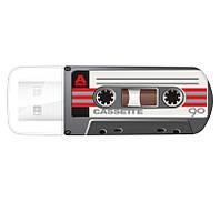 Флешка 16Gb Verbatim Store'N'Go Mini Cassette Edition Black / 49397