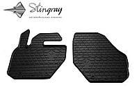 Резиновые коврики Stingray Стингрей Вольво XC60 2008- Комплект из 2-х ковриков Черный в салон. Доставка по всей Украине. Оплата при получении