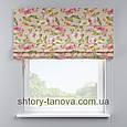 Римская штора с цветочным принтом 160x170 см, фото 2