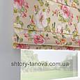 Римская штора с цветочным принтом 160x170 см, фото 3