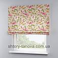 Римская штора с цветочным принтом 160x170 см, фото 4
