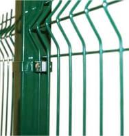 Забор секция 2000х2500х4х3 ячейка 200*50 зелёный