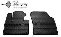 Резиновые коврики Stingray Стингрей Вольво XC90 2015- Комплект из 2-х ковриков Черный в салон. Доставка по всей Украине. Оплата при получении