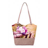 Текстильная сумка XYZ Плетёнка С0403 Букет Астр