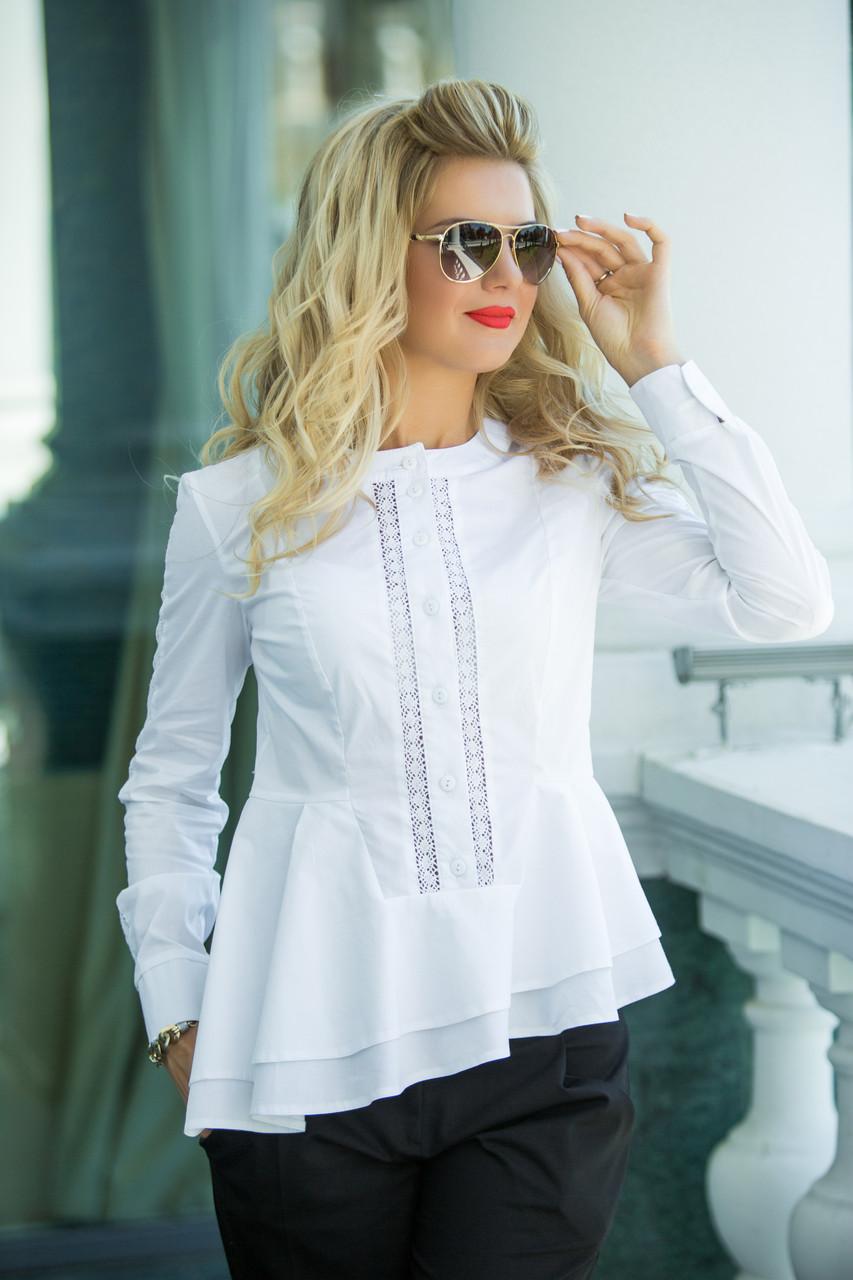 f01614e4d0a Классическая блуза белого цвета
