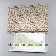 Римська штора з квітковим принтом 160x170 см, фото 4