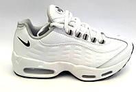 Кроссовки женские/подростковые Nike качественная экокожа белые, черные Ni0155