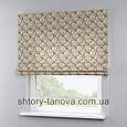 Римская штора с принтом, ромбики 160x170 см, фото 4