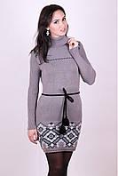 Платье-вышиванка Иванка капучино - черный