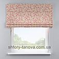 Римская штора с цветочным принтом, мелкие цветочки 160x170 см, фото 2