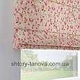 Римская штора с цветочным принтом, мелкие цветочки 160x170 см, фото 3