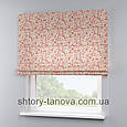 Римская штора с цветочным принтом, мелкие цветочки 160x170 см, фото 4