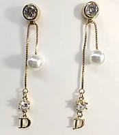 Серьги-подвески Dior c регулируемыми подвесками