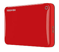 Внешний жесткий диск 1Tb Toshiba Canvio Connect II, Red, 2.5', USB 3.0 (HDTC810ER3AA)