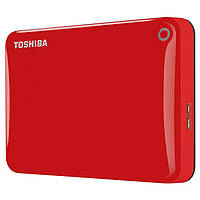 Внешний жесткий диск 500Gb Toshiba Canvio Connect II, Red, 2.5', USB 3.0 (HDTC805ER3AA)