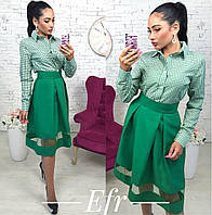 Рубашка  с длинным рукавом + юбка однотонная 7- 105р-087, фото 1