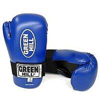 Перчатки для кикбоксинга Green Hill Semicontact (синие)