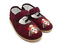 Обувь детская домашняя 100-Д девочка. Размеры: от 28  до 32.