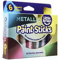 Фломастеры краски флуоресцентные металлические Brian Clegg 6шт