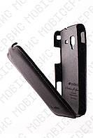MELKCO чехол флип Samsung i8160 (Galaxy Ace2) черный