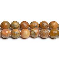 Марокканский Агат Граненый (высшее качество),  Бусины 8 мм, Отверстие 1 мм, кол-во: 47-48 шт/нить