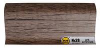 Плинтус мат. 2,5м BudMonster дуб античный (20шт/уп)