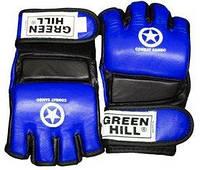 Перчатки для боевого самбо Green Hill MMA-0027 синие - L